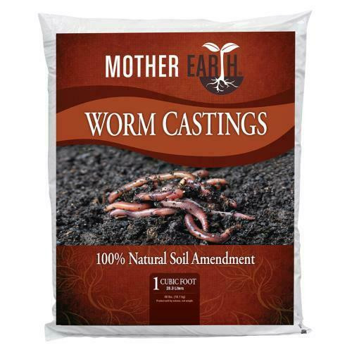 Mother Earth Worm Castings 1 cu ft - 1