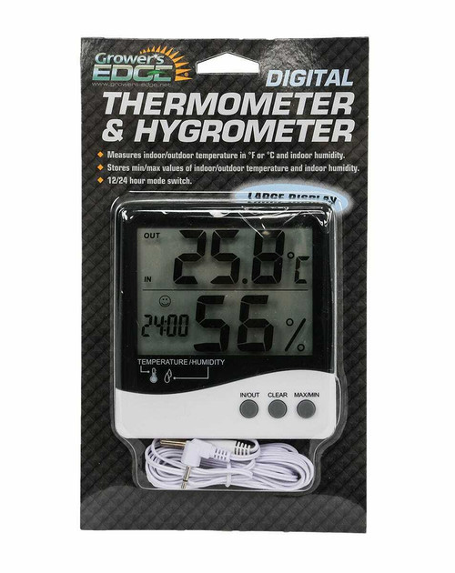 Grower's Edge Large Display Thermometer / Hygrometer - 1