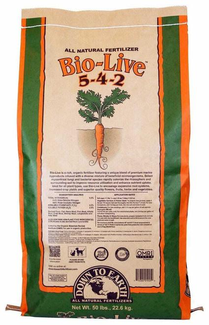 Down To Earth Bio-Live - 50 lb - 1