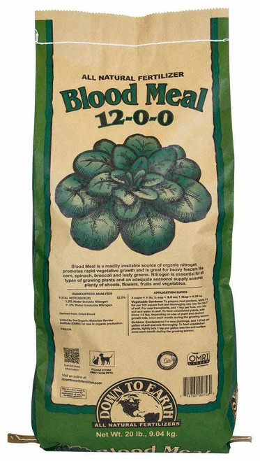 Down To Earth Blood Meal - 20 lb - 1