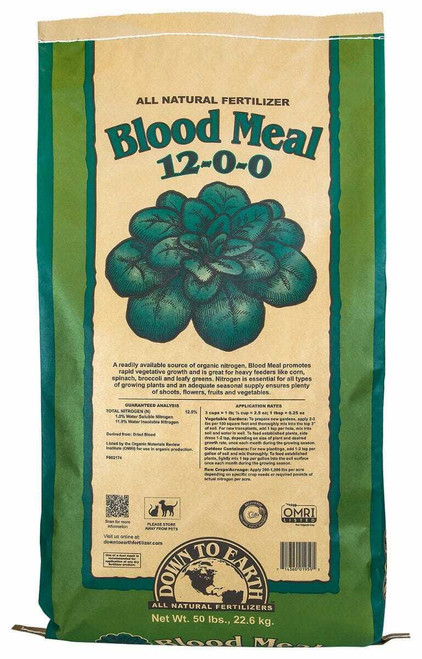 Down To Earth Blood Meal - 50 lb - 1