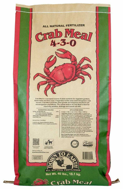 Down To Earth Crab Meal - 40 lb - 1