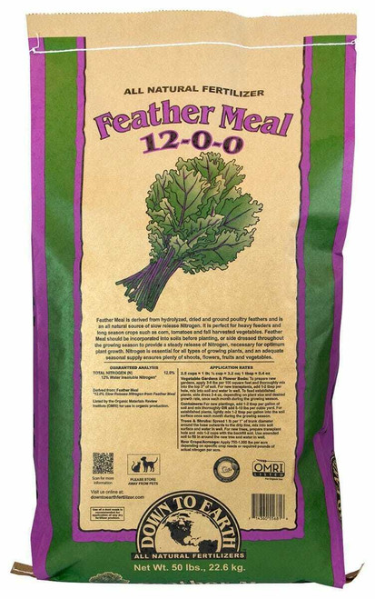 Down To Earth Feather Meal - 50 lb - 1