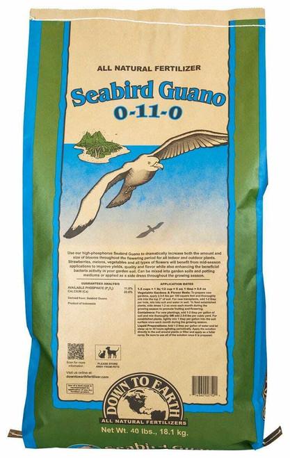 Down To Earth High Phosphorus Seabird Guano - 40 lb - 1