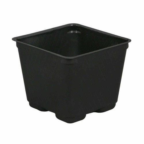 Gro Pro Square Plastic Pot Black 4 in - 1