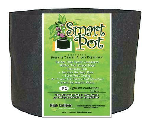 Smart Pot Black 1 Gallon - 1