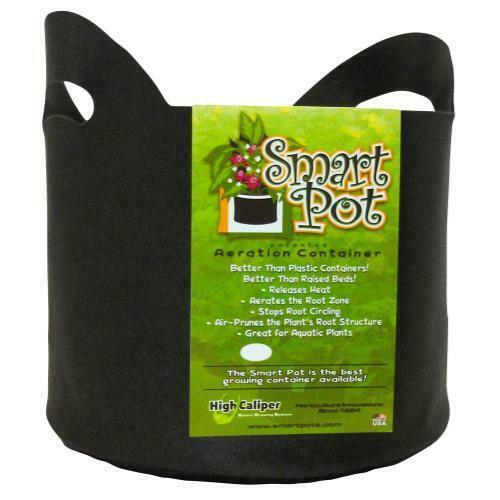 Smart Pot Black 5 Gallon w/ handles - 1
