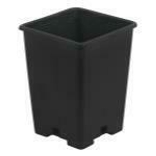 Gro Pro Black Plastic Square Pot 5 x 5 x 7 in - 1