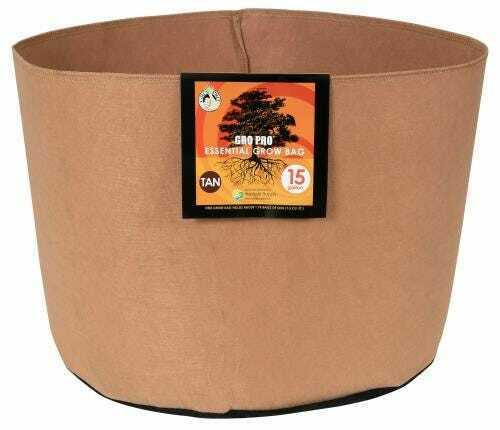 Gro Pro Essential Round Fabric Pot - Tan 15 Gallon - 1