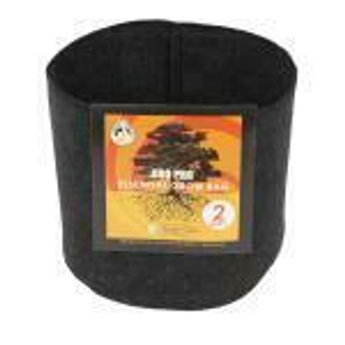 Gro Pro Essential Round Fabric Pot - Black 2 Gallon - 1