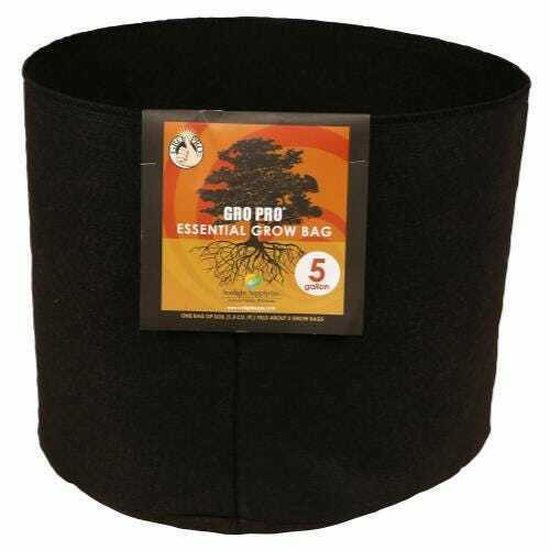 Gro Pro Essential Round Fabric Pot - Black 5 Gallon - 1