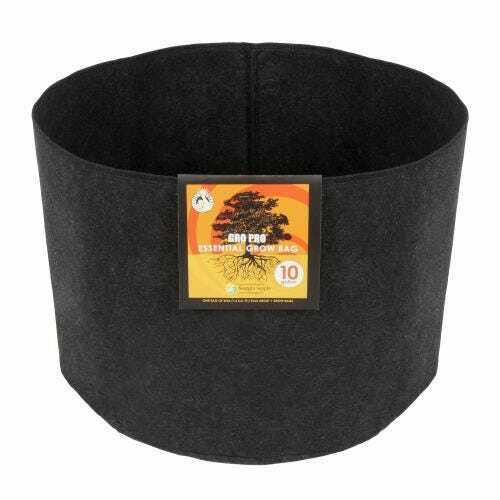 Gro Pro Essential Round Fabric Pot - Black 10 Gallon - 1