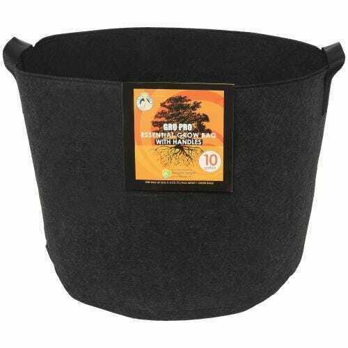 Gro Pro Essential Round Fabric Pot w/ Handles 10 Gallon - Black - 1