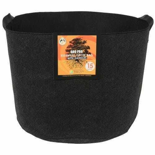 Gro Pro Essential Round Fabric Pot w/ Handles 15 Gallon - Black - 1