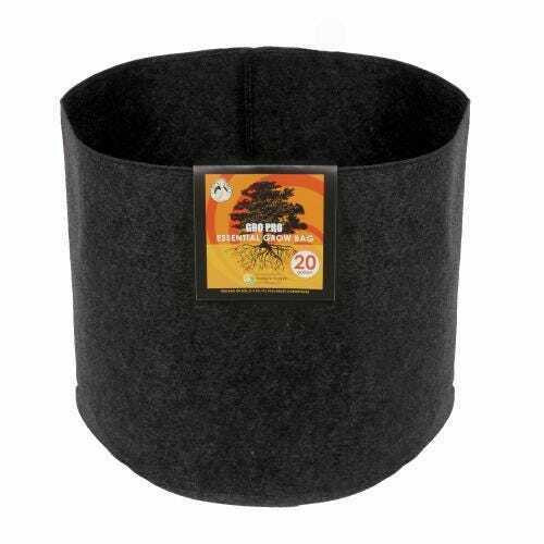 Gro Pro Essential Round Fabric Pot - Black 20 Gallon - 1
