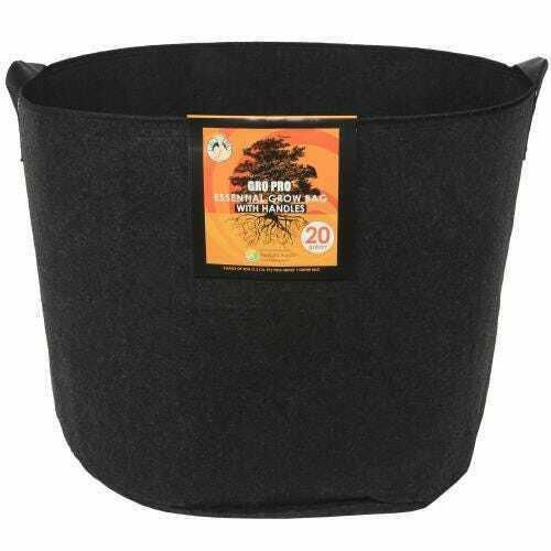 Gro Pro Essential Round Fabric Pot w/ Handles 20 Gallon - Black - 1