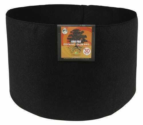 Gro Pro Essential Round Fabric Pot - Black 30 Gallon - 1