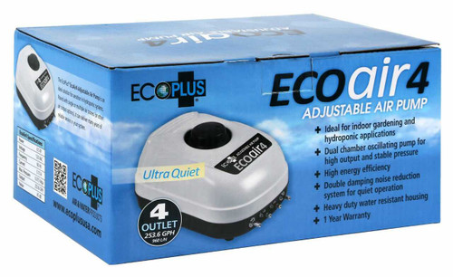 EcoPlus Eco Air 4 Four Outlet - 6.5 Watt 253 GPH - 1