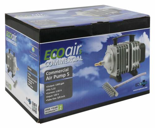 EcoPlus Commercial Air 5 - 80 Watt Single Outlet 1300 GPH - 1