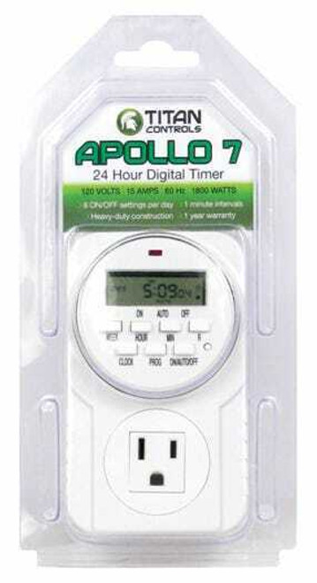 Titan Controls Apollo 7 - One Outlet Digital Timer - 1