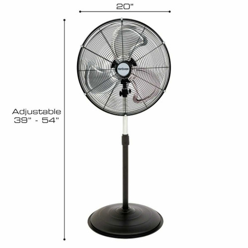 Hurricane Pro High Velocity Oscillating Metal Stand Fan 20 in - 1