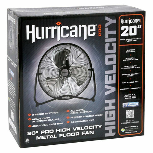 Hurricane Pro High Velocity Metal Floor Fan 20 in - 1
