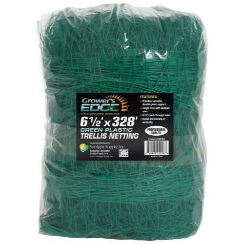Grower's Edge Green Trellis Netting 6.5 ft x 328 ft - 1