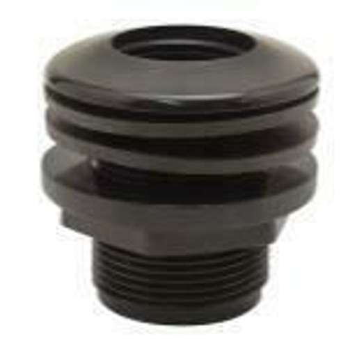 Hydro Flow Bulkhead Thread/Thread 3/4 in Hole Size 1-1/2 in -  (25/Box) Must buy 25 - 1
