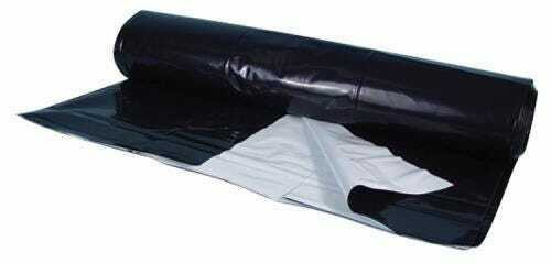 Berry Plastics Black/White Poly Sheeting Commercial Size - 5 mil 24 ft x 100 ft - 1