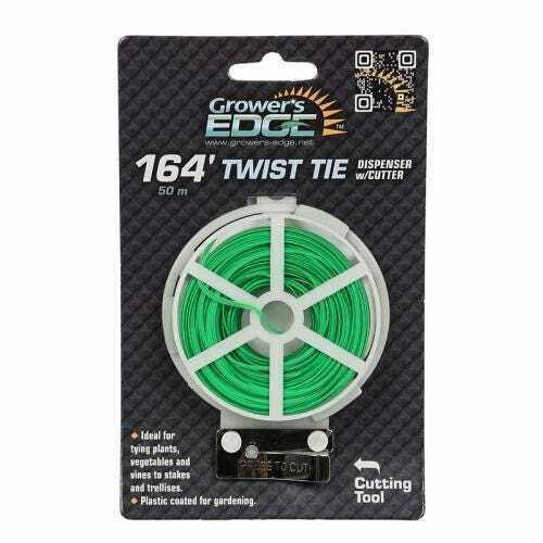 Grower's Edge Green Twist Tie Dispenser w/ Cutter - 164 ft - 1