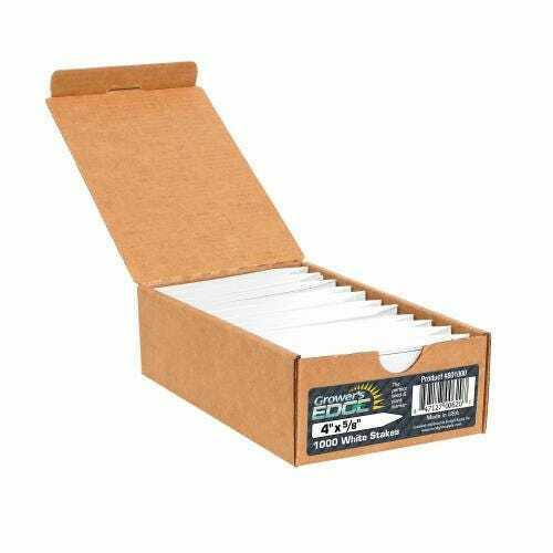 Grower's Edge Plant Stake Labels White - 100 Pack - 1