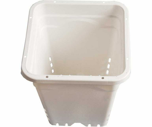 "12""x12"" Square White Pot, 12"" T - 1"