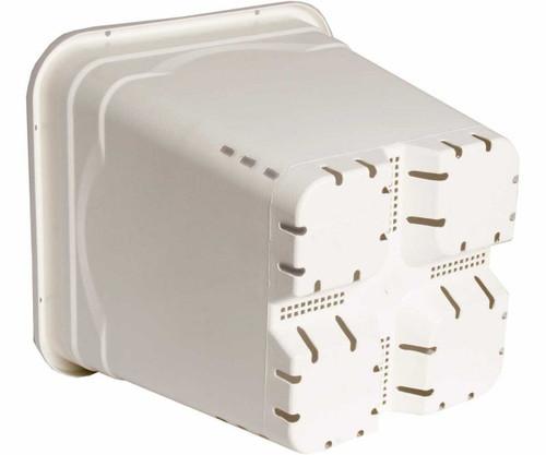 """7""""x7"""" Square White Pot, 9"""" Tall, 50 per case - 1"""