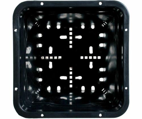 "7""x7"" Square Black Pot 9"" Tall, 50 per case - 1"