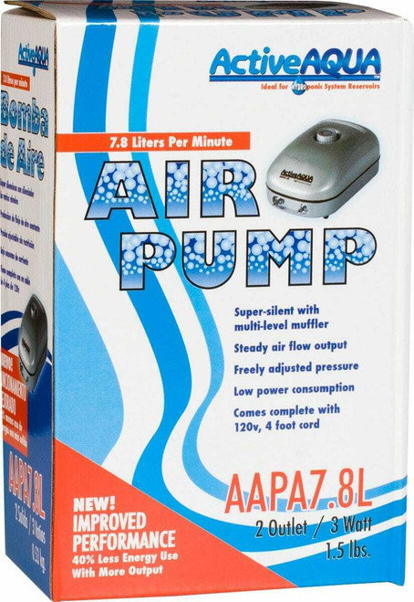 Air Pump 2 Outlets 3W 7.8L/min - 1