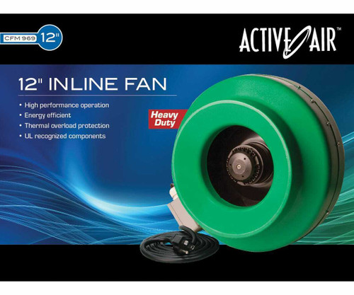 12 inch In-Line Duct Fan 969 CFM - 1