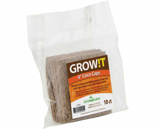 """GROW!T Coco Caps, 4"""", pack of 10 - 1"""