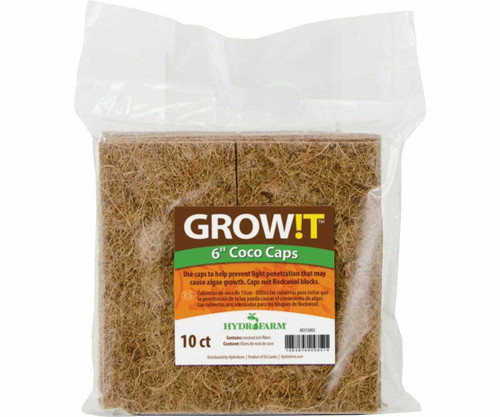 """GROW!T Coco Caps, 6"""", pack of 10 - 1"""