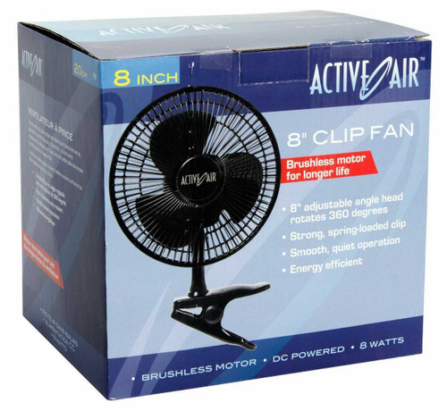 Active Air 8in Clip Fan, 7.5W - 1