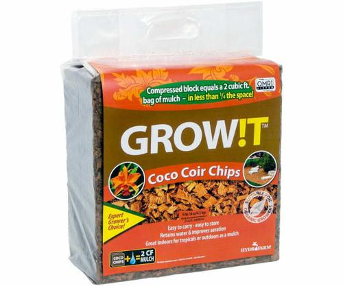 GROW!T Organic Coco Coir Chips, Block - 1