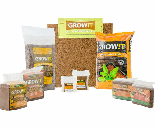 GROW!T Coco Coir Mix Brick, pack of 3 - 1