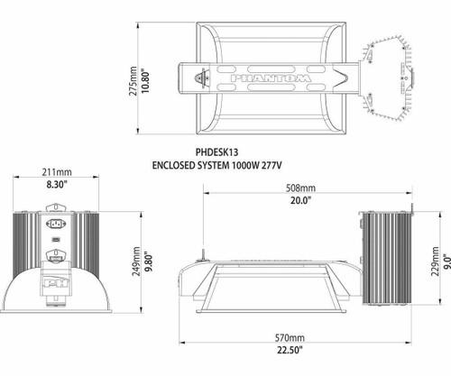 DE 1000W 277V Commercial Enclosed System - 1