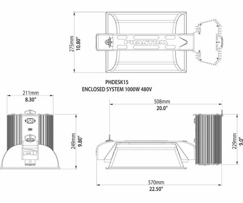 DE 1000W 480V Commercial Enclosed System - 1