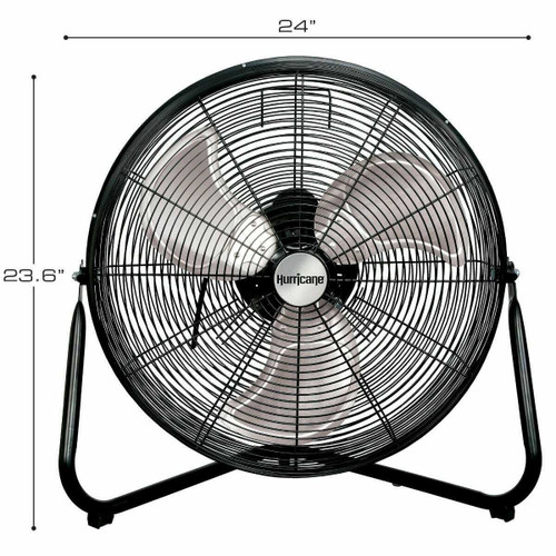 Hurricane Pro Heavy Duty Orbital Wall / Floor Fan 20 in - 1