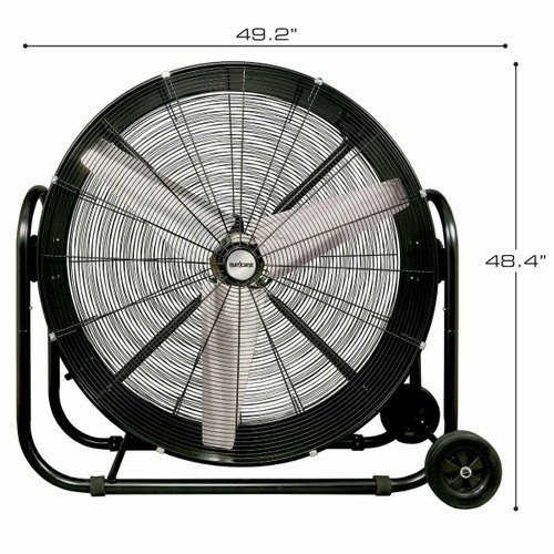 Hurricane Pro Heavy Duty Adjustable Tilt Drum Fan 42 in - 1