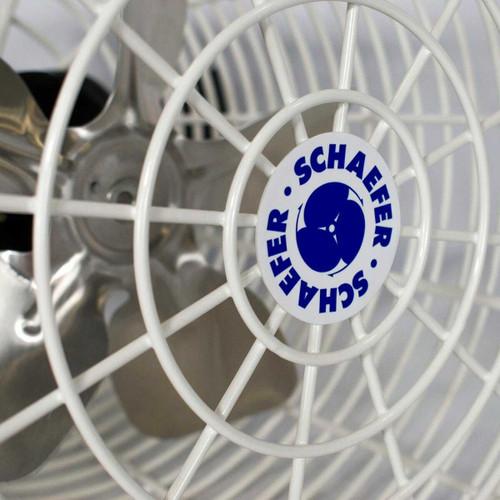 Schaefer Versa-Kool Circulation Fan 8 in w/ Tapered Guards Cord & Mount - 450 CFM - 1