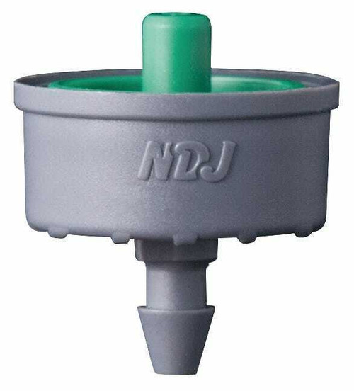 Hydro Flow Click-Tif Pressure Compensated Dripper w/ Check Valve 2.0 GPH Green (1=100/Bag) - 1