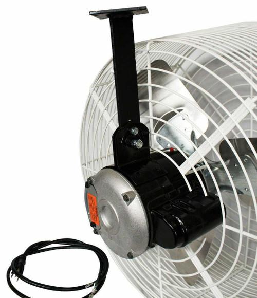 Schaefer Versa-Kool Circulation Fan 20 in w/ Tapered Guards, Cord & Mount - 5470 CFM - 1