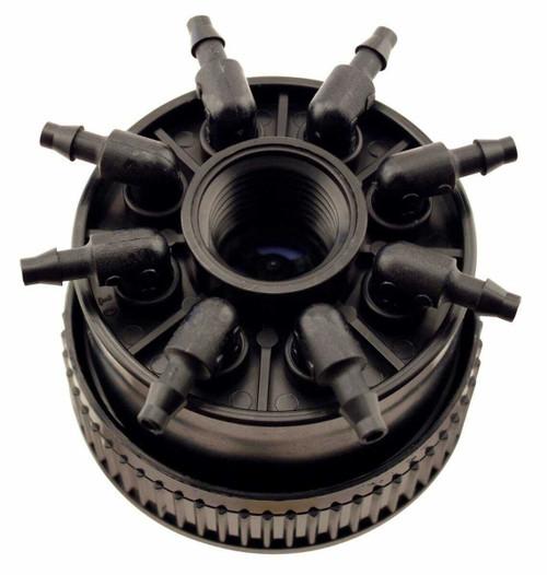 Hydro Flow Octa-Bubbler 6 GPH Per Outlet - Black Medium Flow Bubbler (Sold Individually) - 1