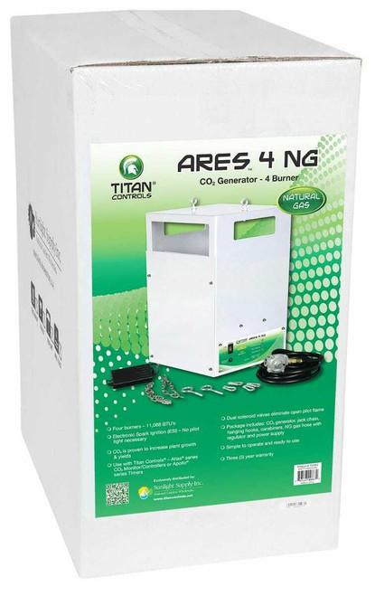 Titan Controls Ares 4 - Four Burner NG CO2 Generator - 10.8 CUFT/HR - 1